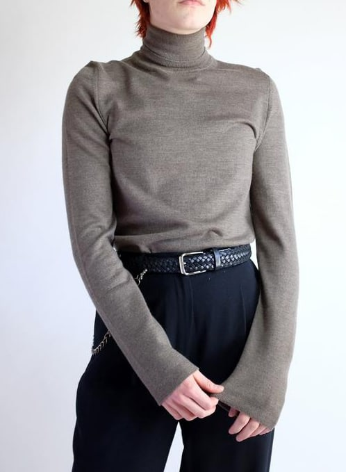 CALVIN KLIEN NEUTRAL BASIC LONG SLEEVE TURTLE NECK