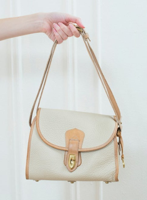 DOONEY AND BOURKE CREAM LEATHER BAG