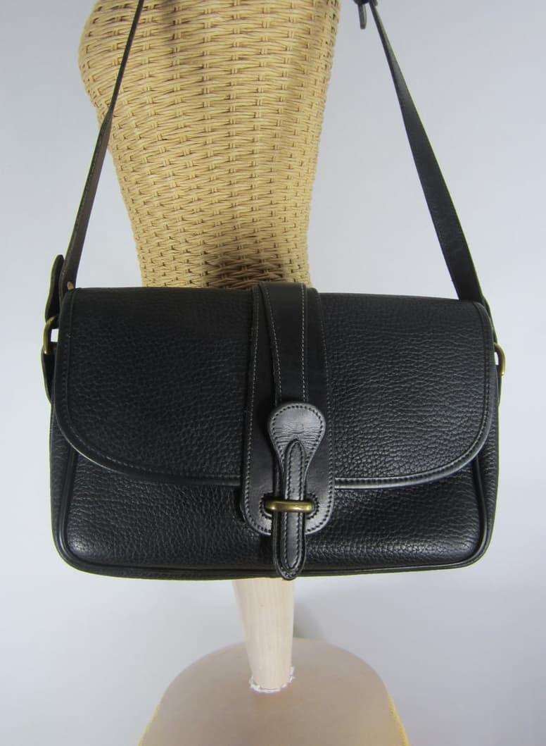 DOONEY BOURKE BLACK LEATHER VINTAGE BAG