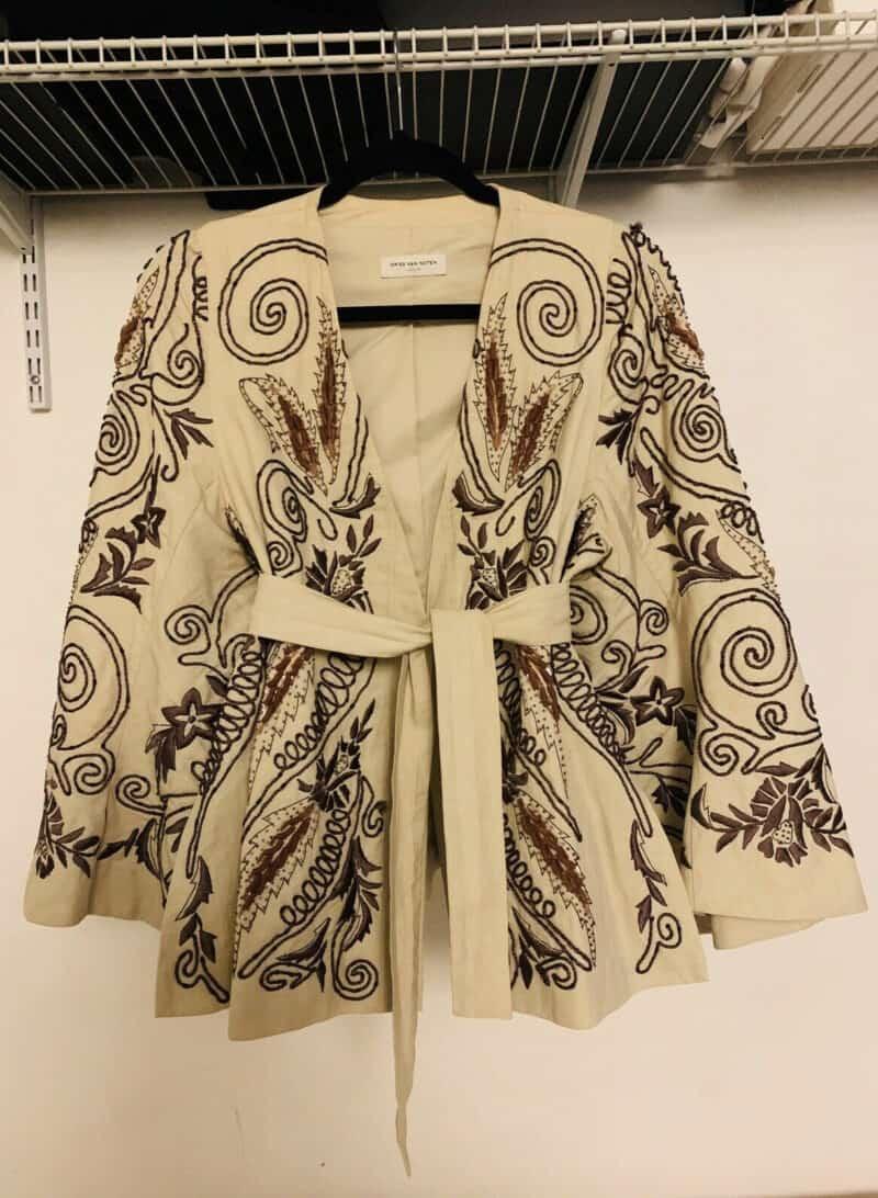 DRIES VAN NOTEN Vintage Embroidered Embellished Flared Jacket