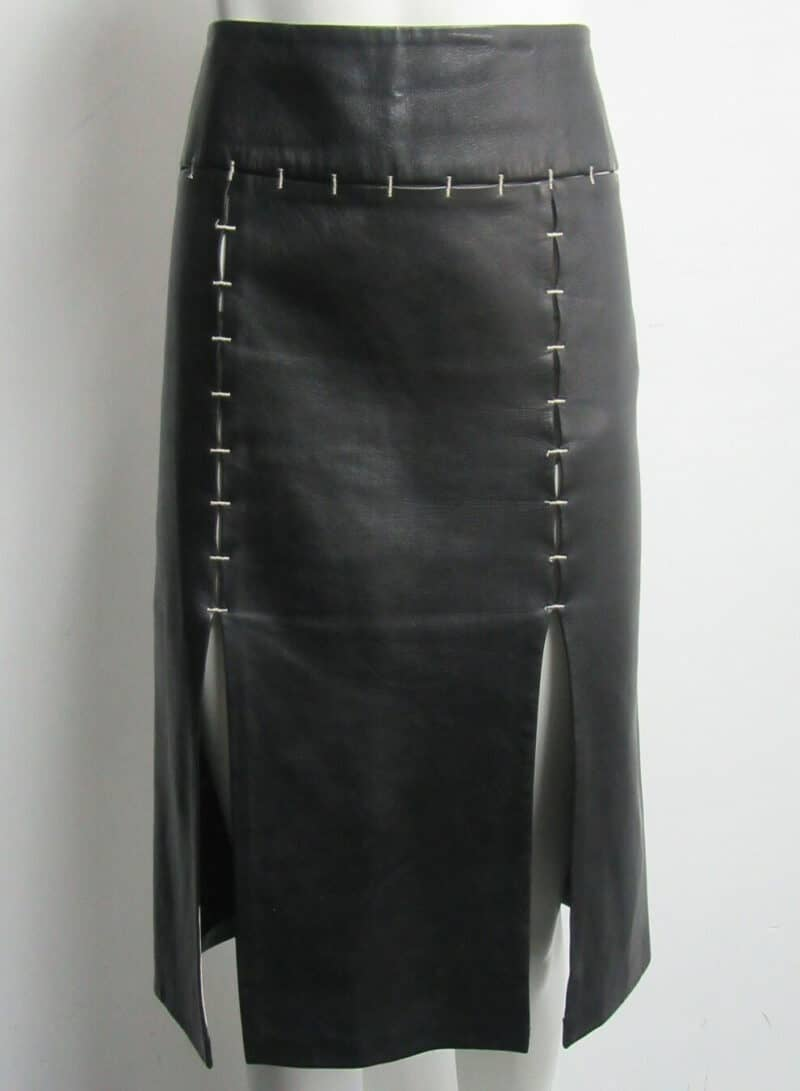 GIANFRANCO FERRE black leather skirt
