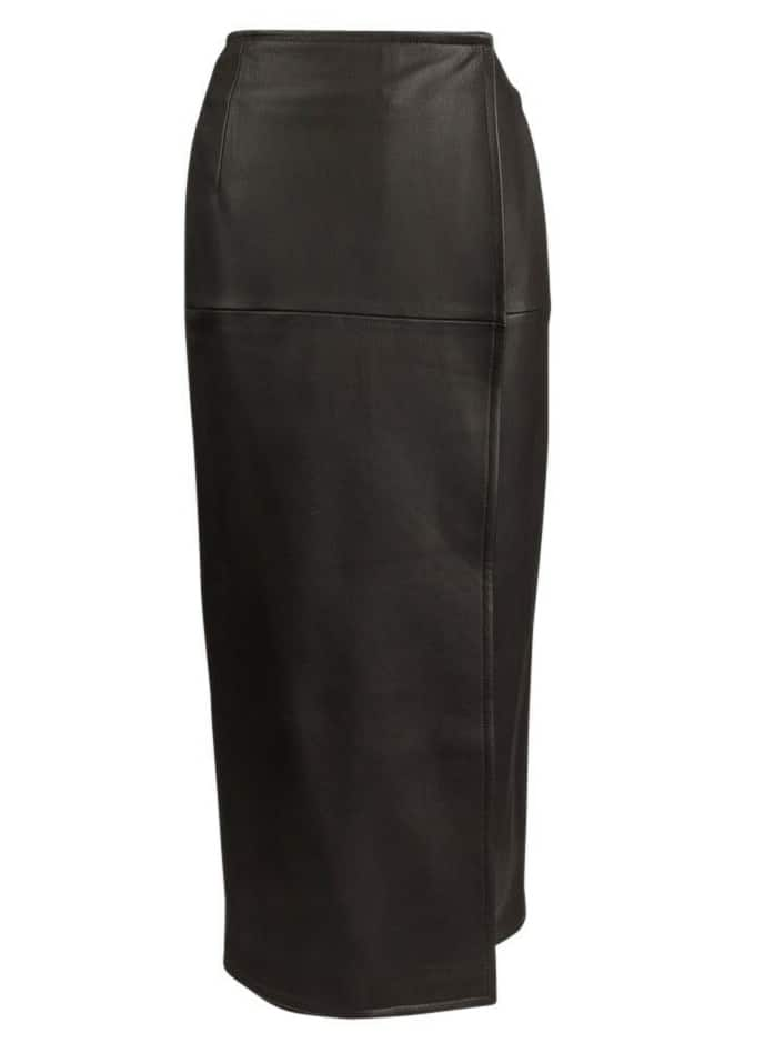 HERMÈS DEAR LEATHER SKIRT MAXI