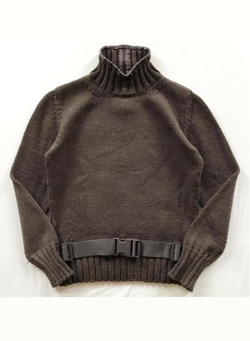 MIU MIU BROWN UTILITY TURTLE NECK