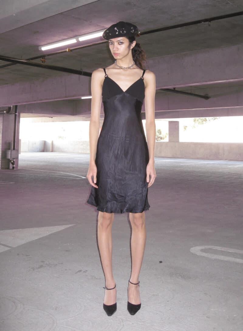 LOSER THRIFT X DISPLAY COPY DEPOP BLACK SLIP DRESS 11