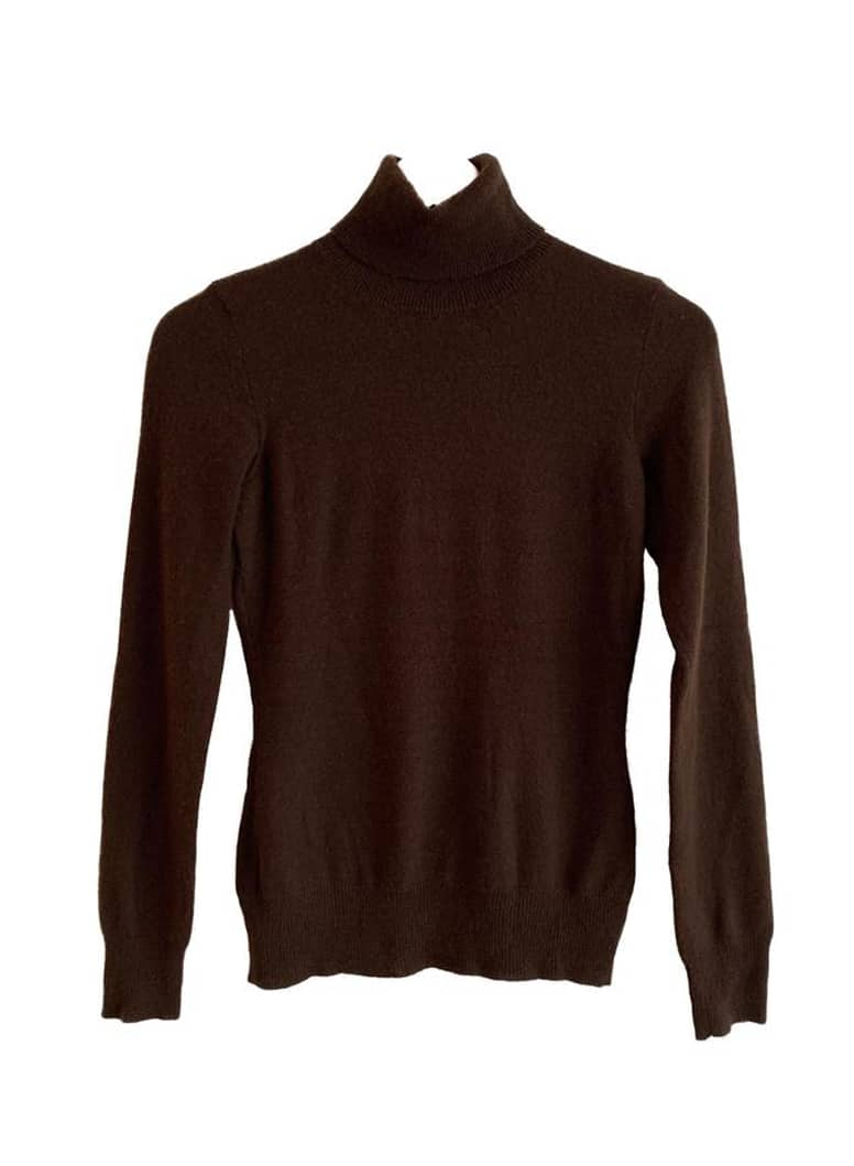RALPH LAUREN CASHMERE BROWN TURTLENECK