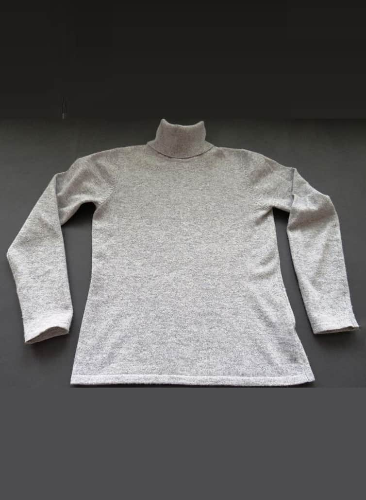 RALPH LAUREN HEATHER GREY TURTLENECK