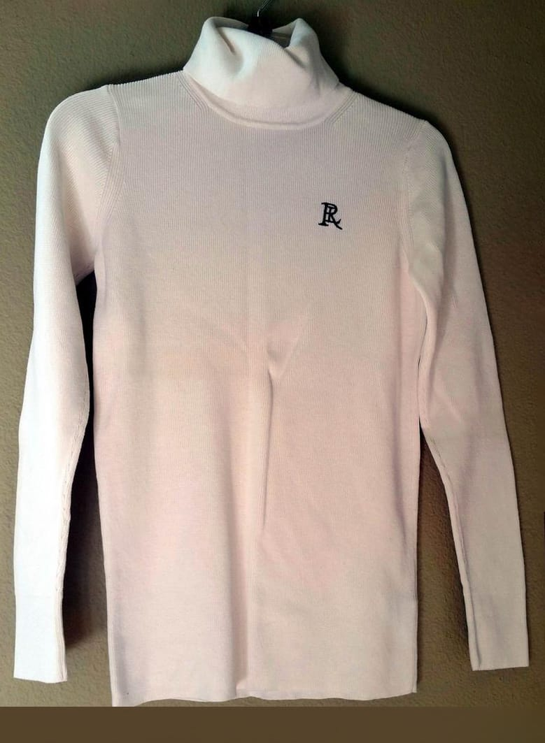 RALPH LAUREN WHITE TURTLE NECK