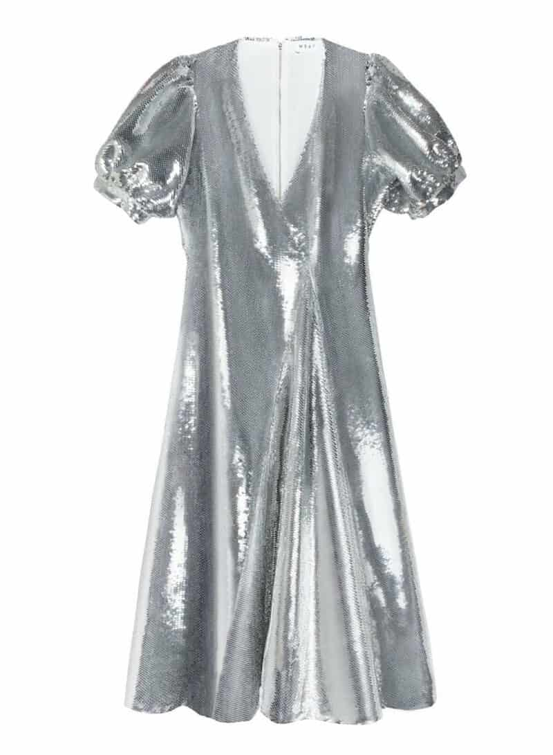 SECOND DATE SILVER SEQUINS DRESSS