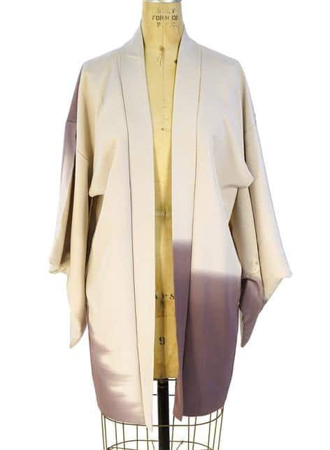 VINTAGE Amethyst Mist Silk Kimono One Size