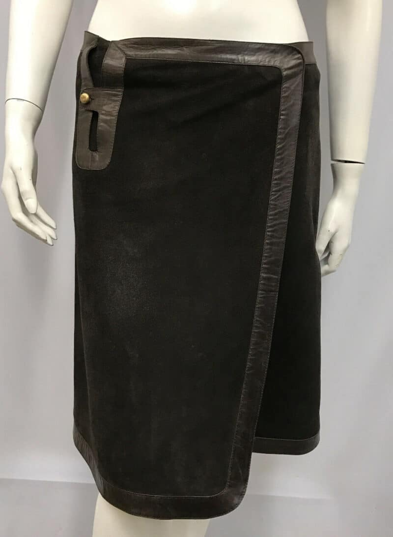 VINTAGE BALLY SUEDE WRAP SKIRT