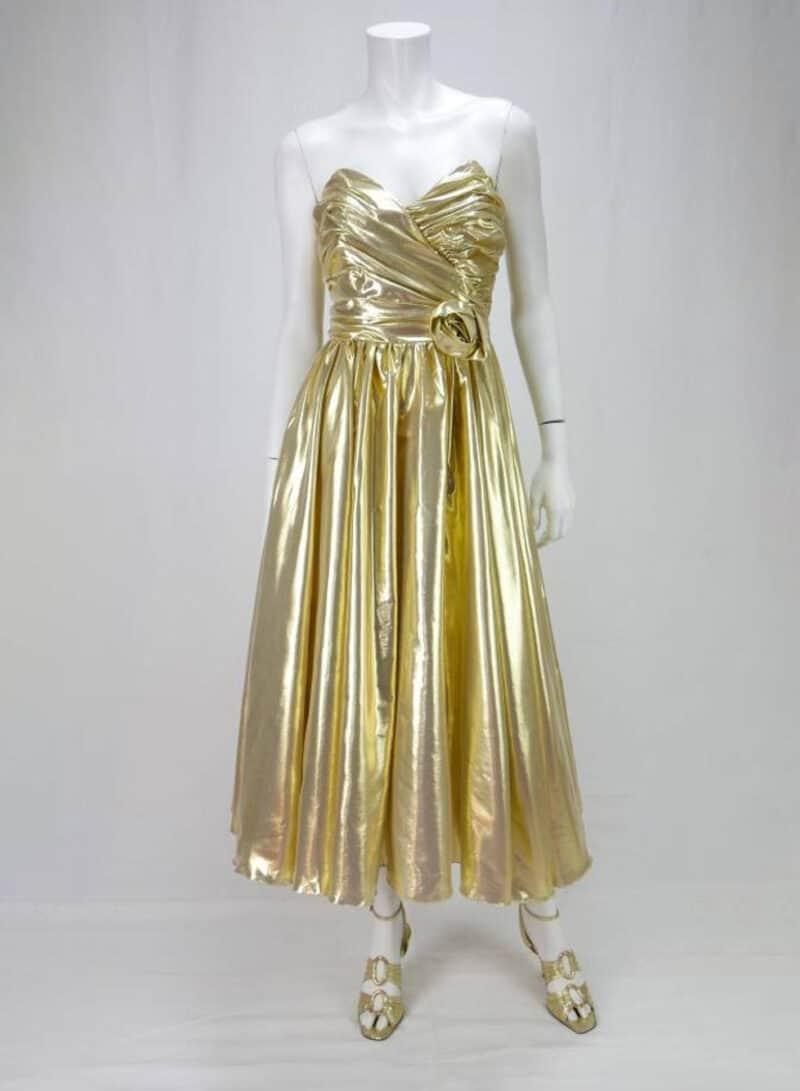 VINTAGE LAME GOLD DRESS