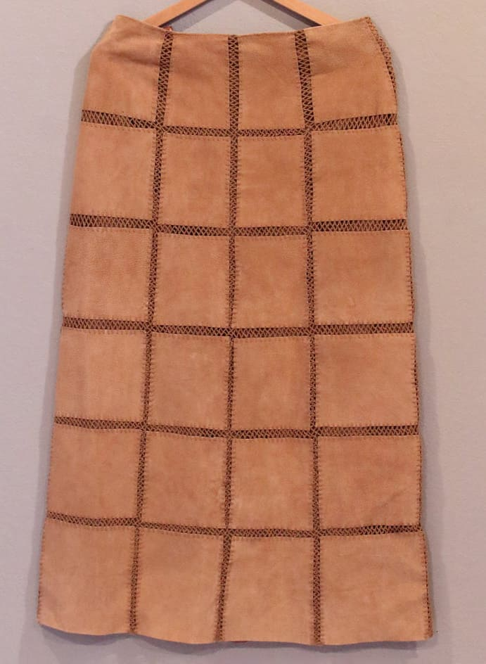 VINTAGE PATCHWORK LEATHER SKIRT