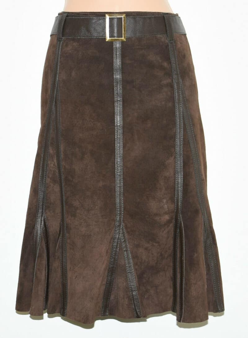 VINTAGE PROMOD SKIRT PLEATED SUEDE