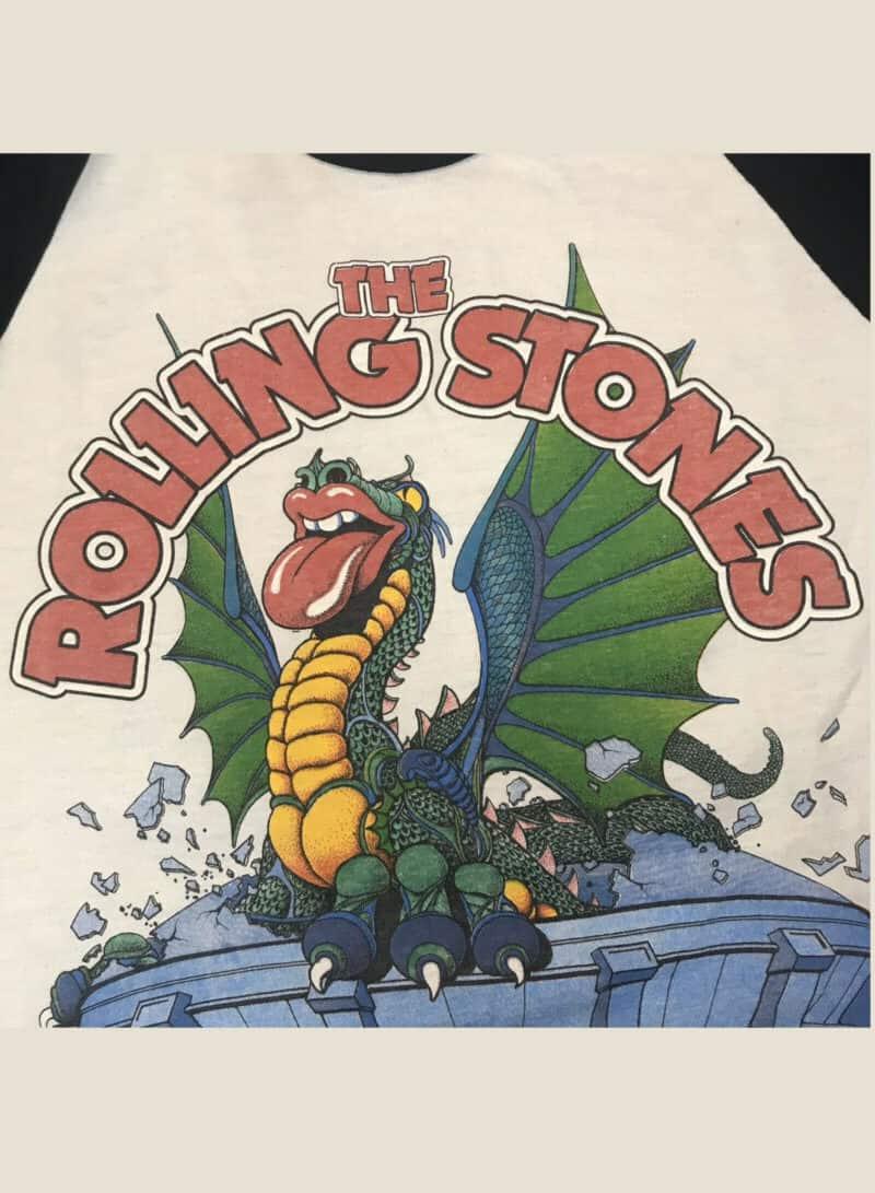 Vintage 1981 Rolling Stones Tour 50:50 Raglan Baseball Shirt Large 80s Band Tee 2