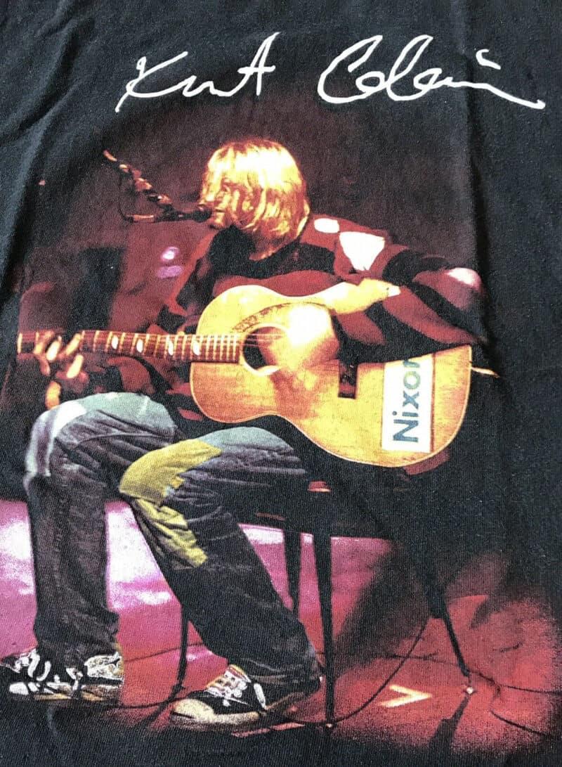 Vintage 90's Kurt Cobain Nirvana T-Shirt Men's L Band Tour Tee Grunge Rock 2