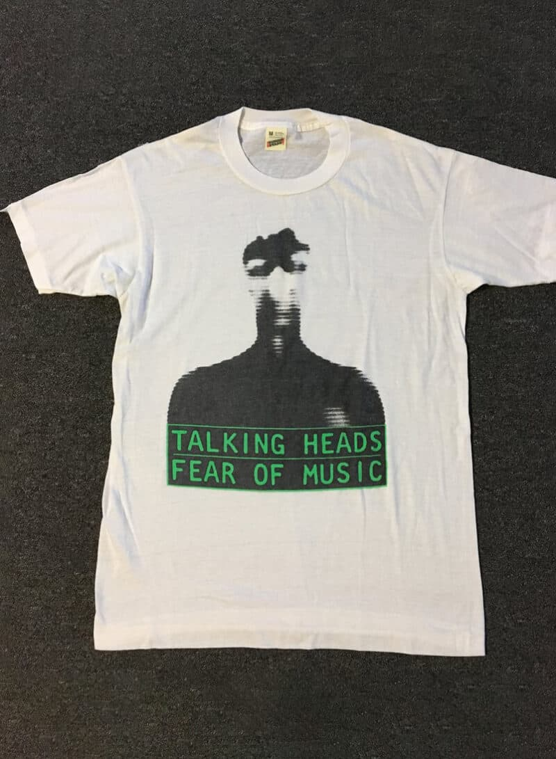 Vtg 80s Talking Heads Fear Of Music Promo Shirt M Devo Brian Eno New Order Cars Sonic Youth Nirvana Joy Division Pixies Morrissey The Clash
