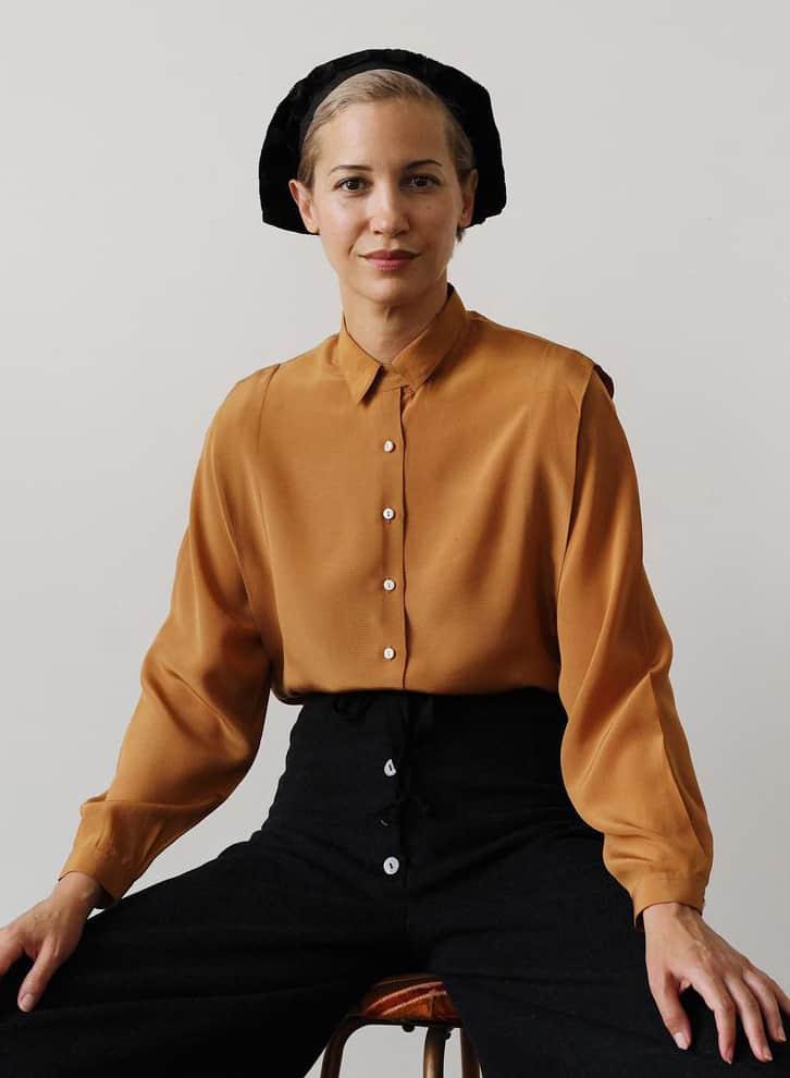 80's CACHAREL blouse vintage silk shirt