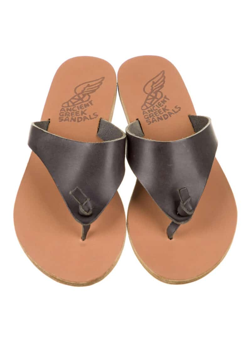 ANCIENT GREEK SANDALS Leather Slide Sandals