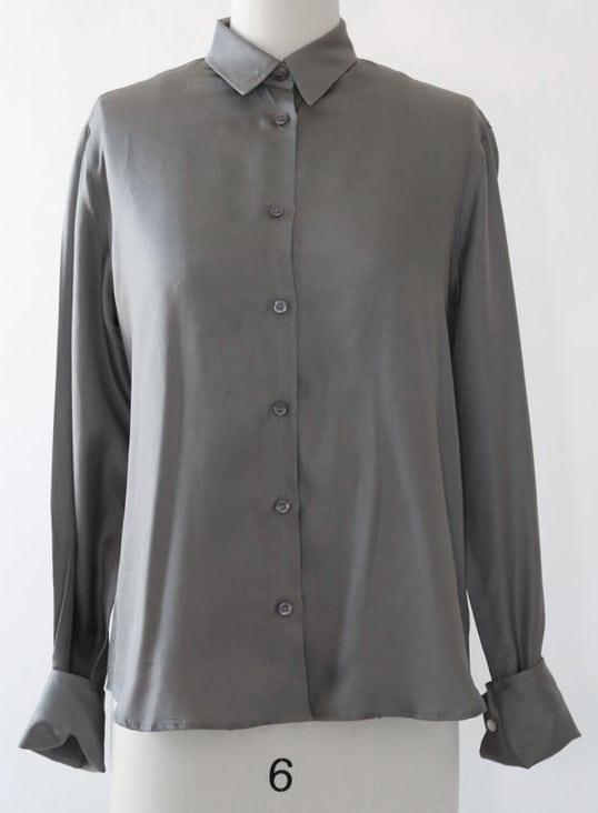 ARMANI silk dress shirt | Charcoal gray silk shirt