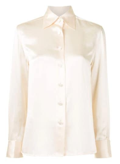 Chanel 1998 box pleat silk shirt