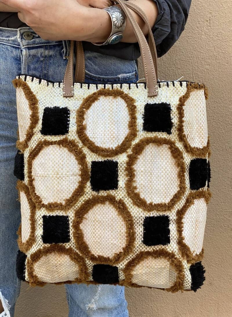 EN SHALLAH RECYCLED SUMMER TOTE - BROWNS