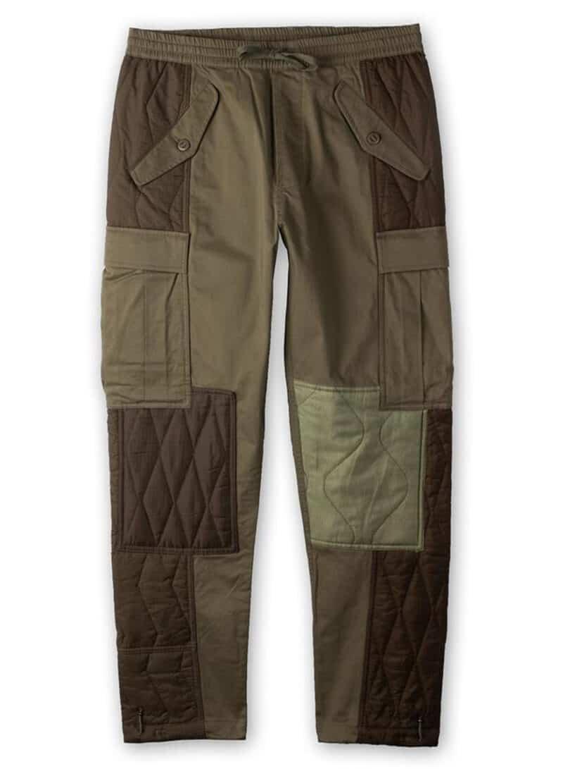 MAHARISHI UPCYCLED TRIQUILTED CARGO PANTS - OLIVE