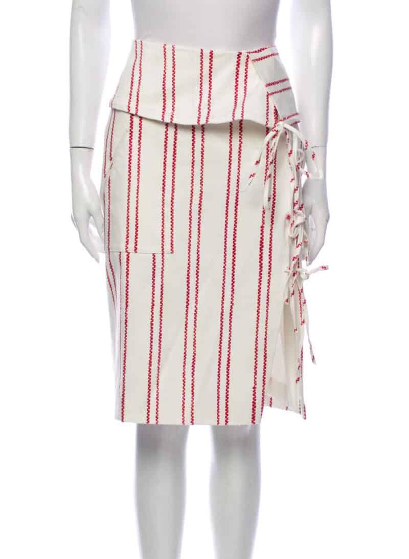 ALTUZARRA Striped Knee-Length Skirt