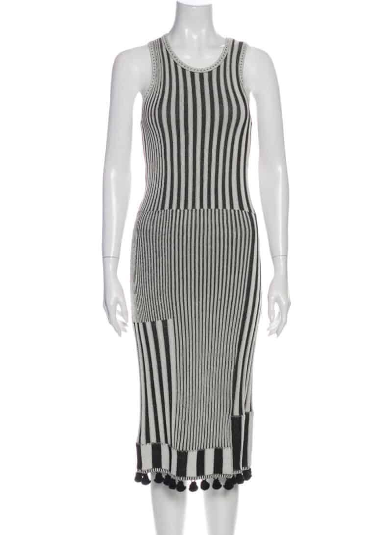 ALTUZARRA Striped Midi Length Dress