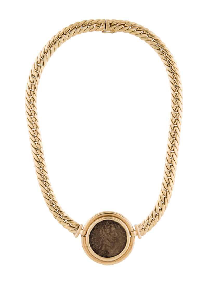Antoninus Pius Coinage Pendant Necklace