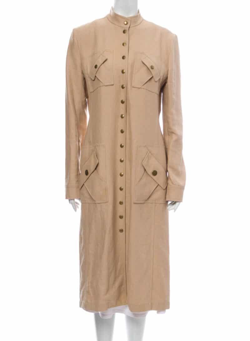 CELINE Linen Midi Length Dress Michael Kors