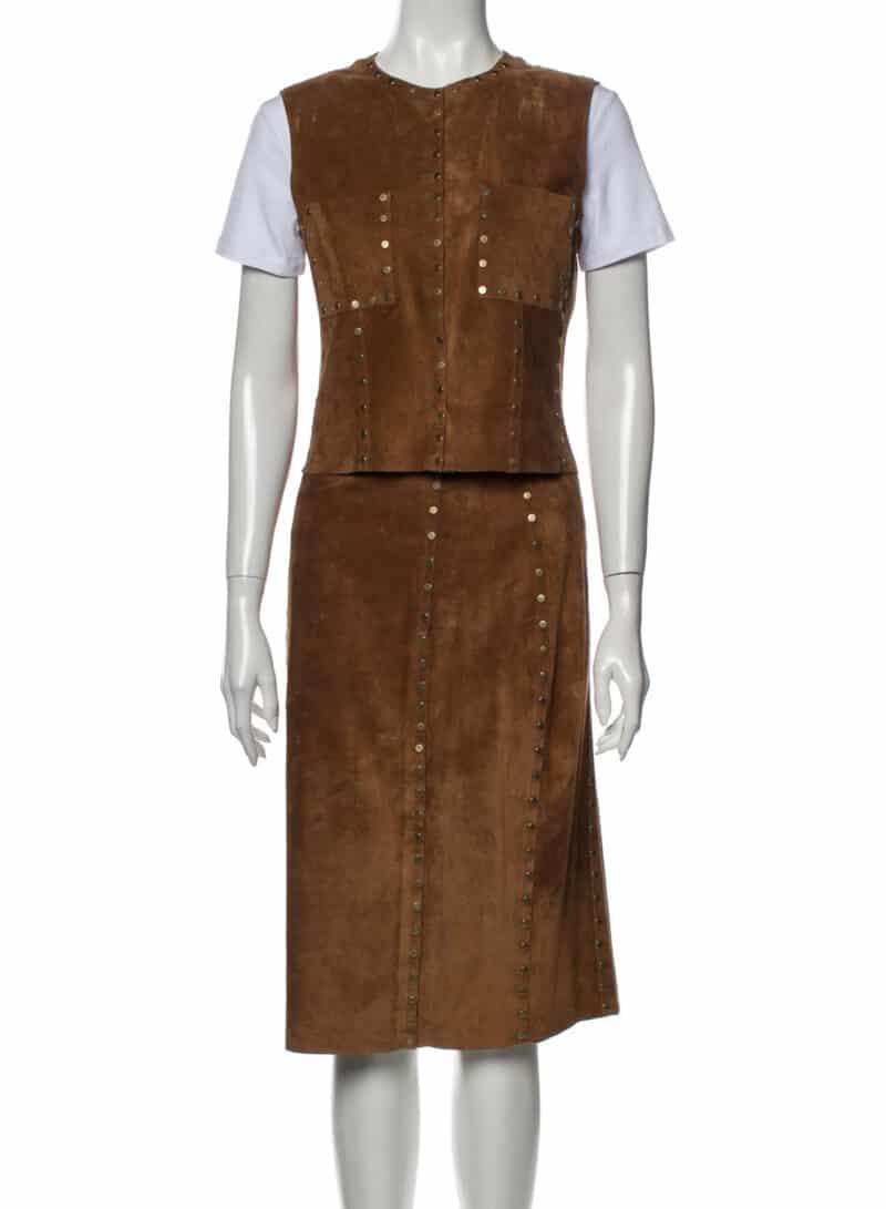 CELINE Vintage 2003 Skirt Set