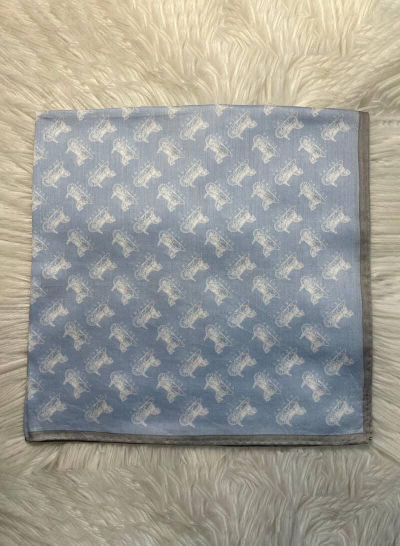 "Celine Paris Vintage Handkerchief Made in Japan 22""x22"" Cotton 2"