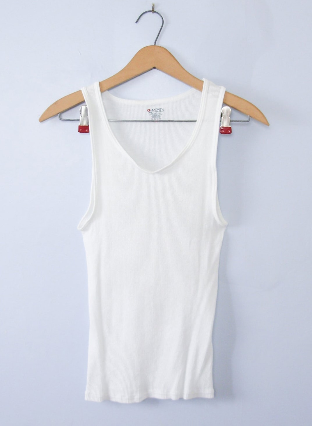DC reco Vintage 90's ribbed knit white tank top, women's size small