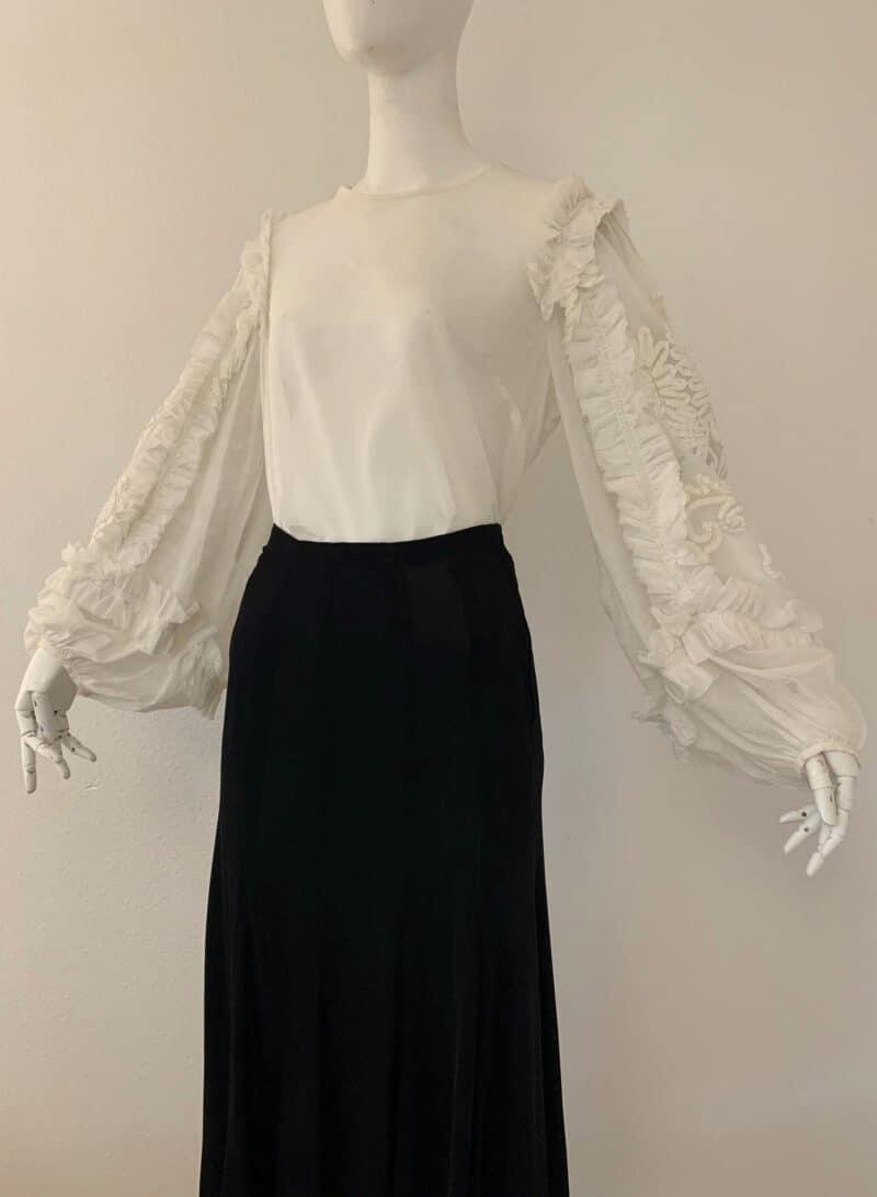 Dries Van Noten White Embroidery Cotton Blouse
