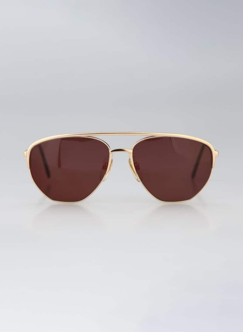 Giorgio Armani 108 703, Vintage 90s unique gold aviator sunglasses men & women NOS
