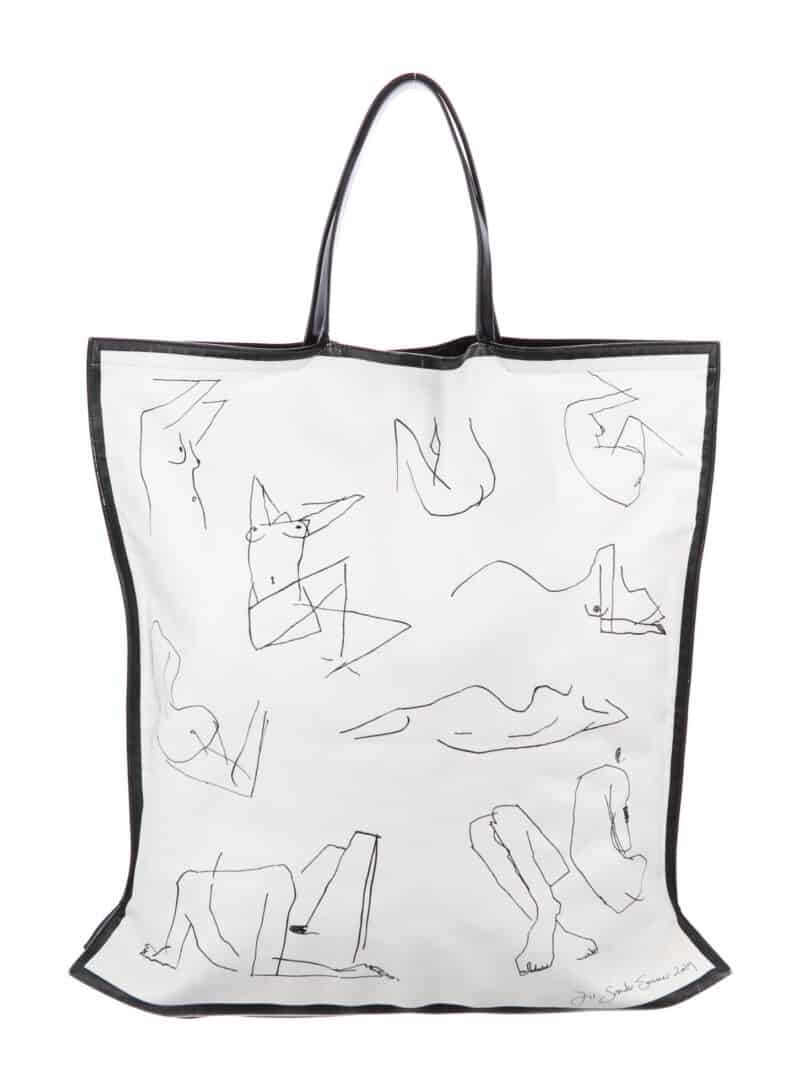JIL SANDER Leather Printed Tote