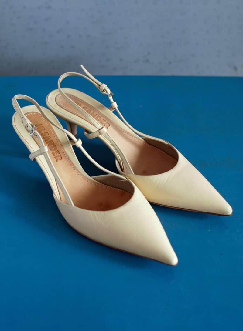 JIL SANDER vintage designer mid heel slingback