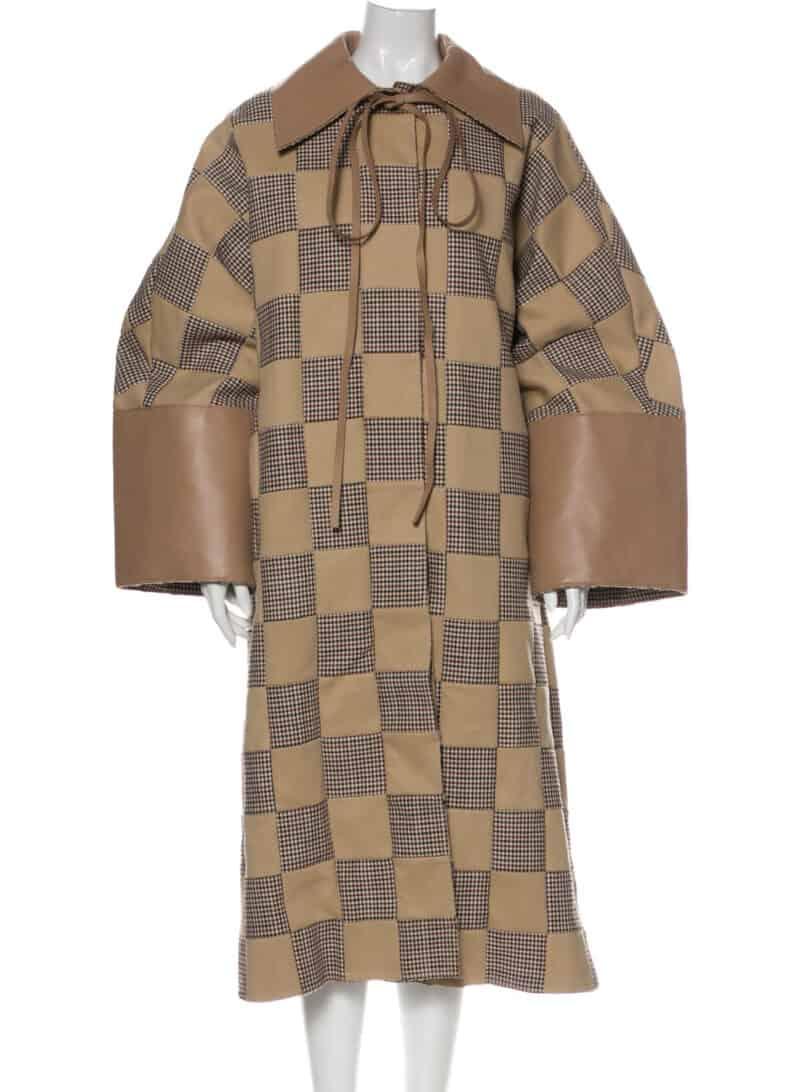 LOEWE 2019 Plaid Print Coat w: Tags