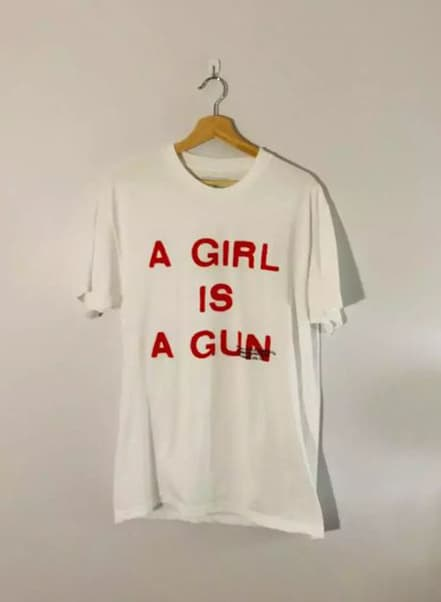 Vintage A Girl Is A Gun Tee