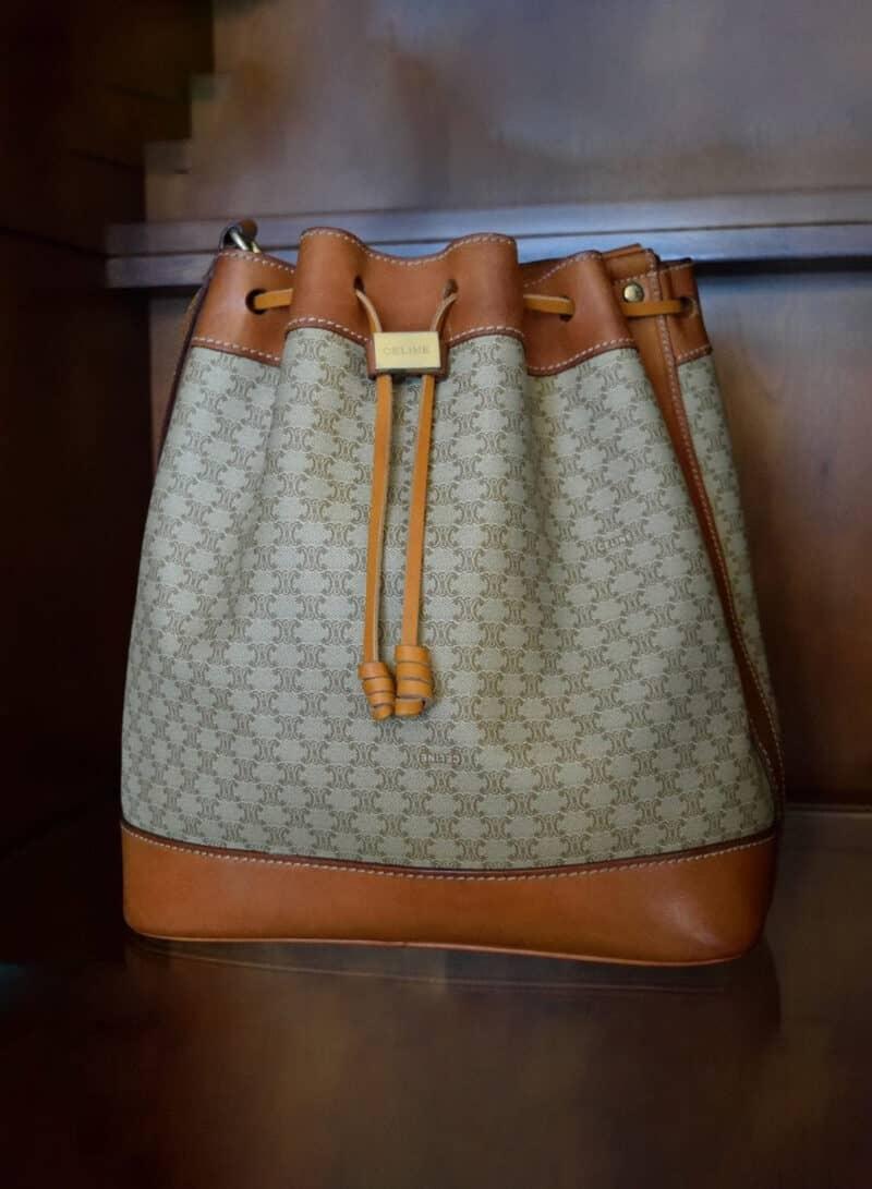 Vintage Celine Bucket Shoulder Bag