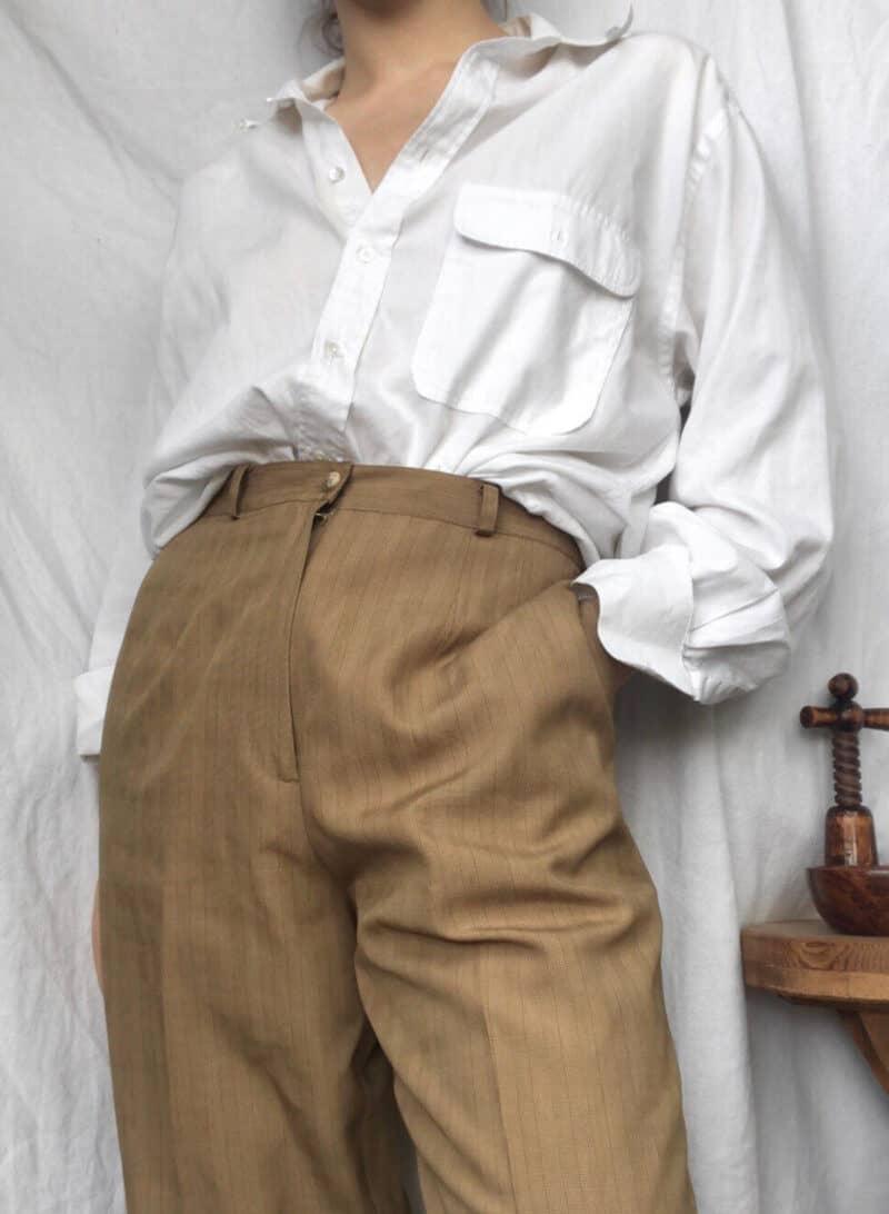 Vintage Giorgio Armani white cotton button up