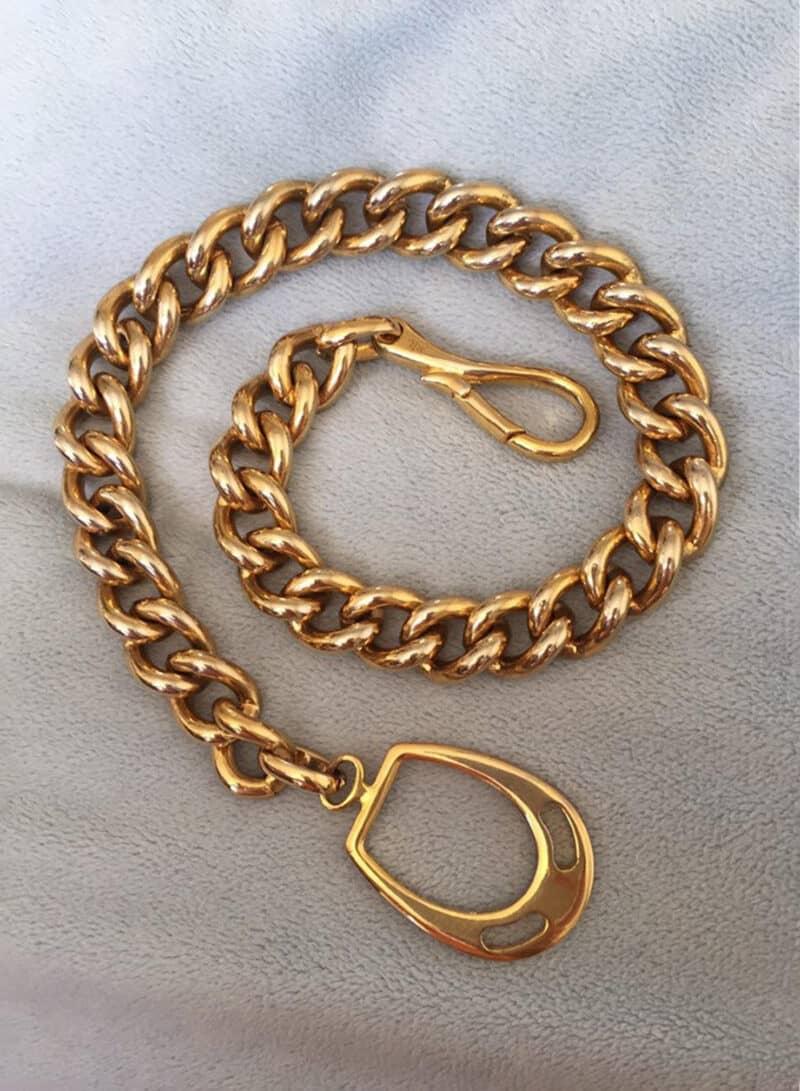 Vintage Ralph Lauren Equestrian Chain RLL Necklace