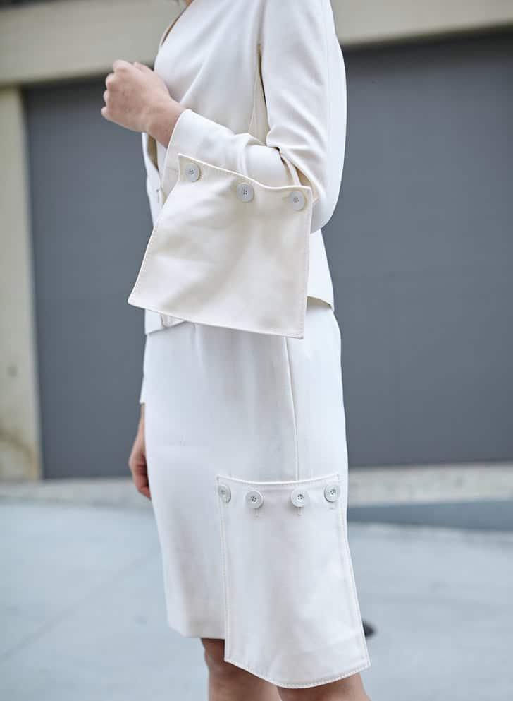 Vintage Valentino Couture Ivory Skirt Set