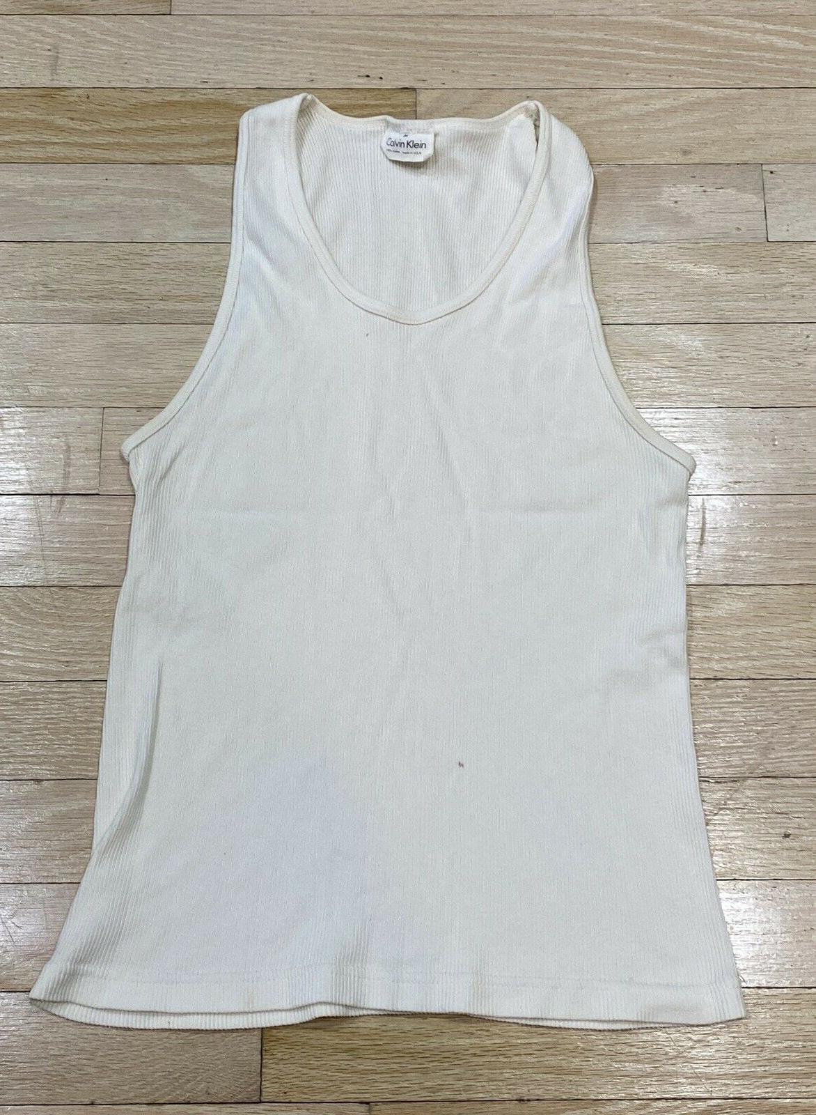 Vintage White Rib Knit Tank