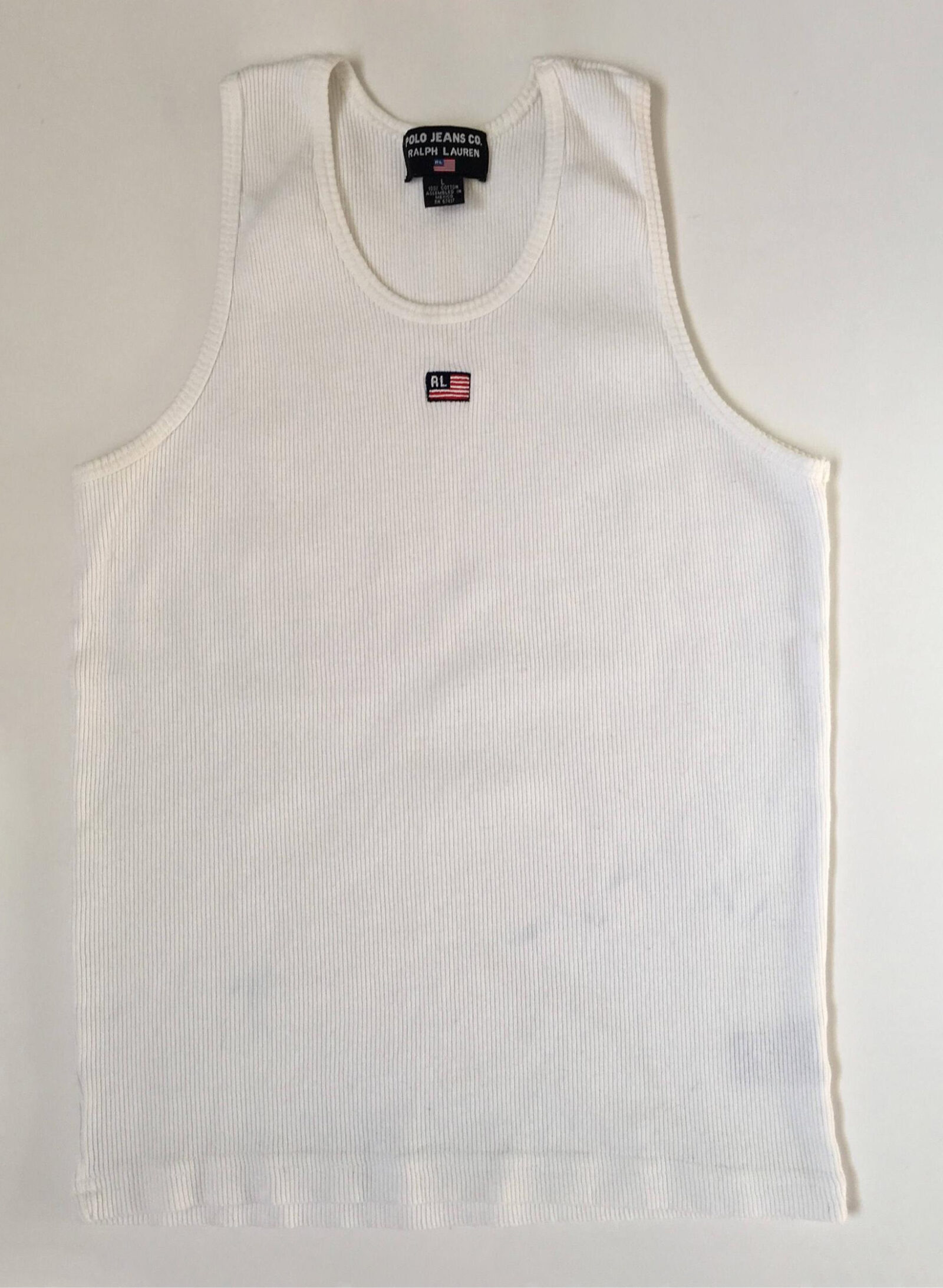 dc reco 1990s POLO RALPH LAUREN Embroidered Logo Vintage Ribbed Tank Top1990s POLO RALPH LAUREN Embroidered Logo Vintage Ribbed Tank Top