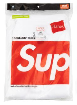 dc reco Supreme Hanes Tagless Tank Tops 3 Pack SS 20