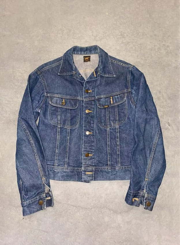 vintage 80s lee denim denim jacket
