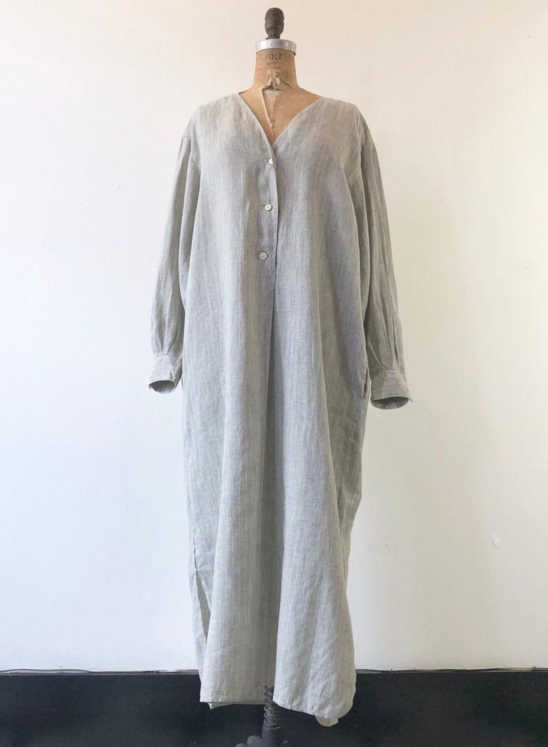 1970's Fine Linen Tunic Shirt