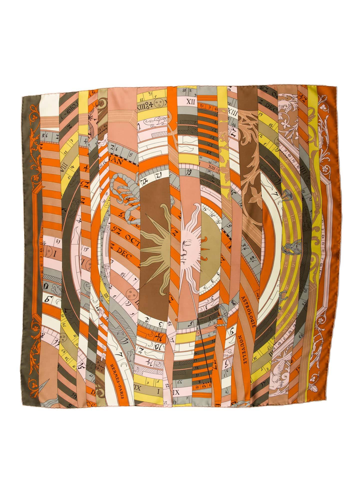 Hermès Silk Scarf Orange copy
