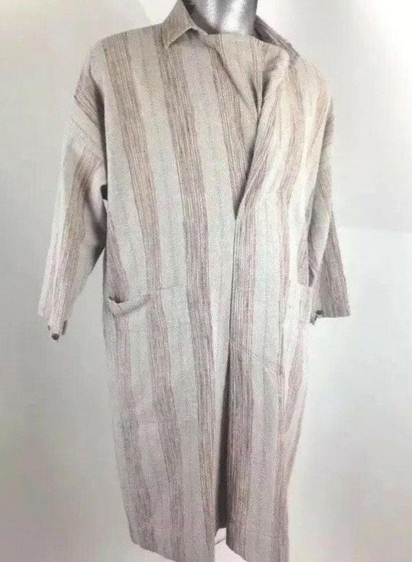 Issey Miyake Plantation Vintage Men Unisex Oversize Woven Cotton Tunic Shirt